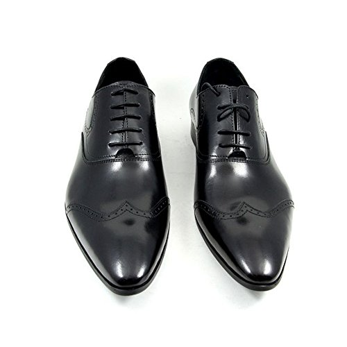 Fulinken Men Genuine Leather Oxford Shoes Lace up Slip on Boots Brogue Shoes Formal Dress Shoes Black real sale online Inexpensive cheap price 2014 sale online AWDG4ooU