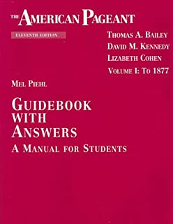 amazon com the american pageant guidebook with answers a manual rh amazon com American Pageant 15th Edition American Pageant 15th Edition