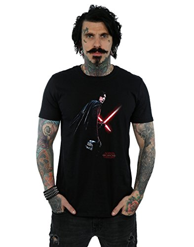 Star Wars Men's The Last Jedi Kylo Ren Shadow T-Shirt Large Black