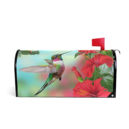 WOOR Spring Bird Hummingbird Magnetic Mailbox Cover Standard Size-18