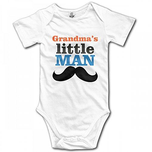 PAPAFU1234WE-id Grandma's Little Man Infant Bodysuit Fashion Onesies Cotton Rompers -