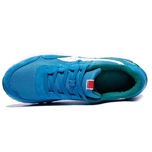 8e1e283e6f3561 YiDiar Männer Athletisch Luftpolster Training Trail Laufschuhe Outdoor  Jogging Sport Turnschuhe Blau Weiss ...
