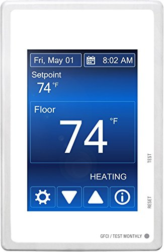MasterHeat 500850 Programmable Touchscreen Thermostat for Radiant In Floor Heating