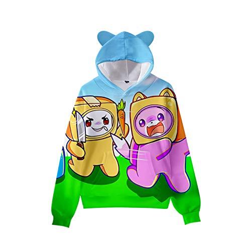 Lanky-box Merch Lanky-box Boxy 3d Cat Ears Hoodie