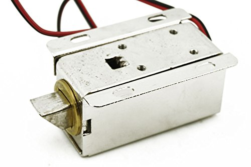 DC 12V Puerta Cajón Lengua Down–Cerradura Eléctrica Asamblea solenoide Slim diseño Lock para Electric bloqueo de...