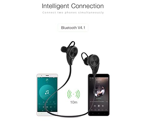 Amazon.com: Wireless Earphones with mic, Ear-Buds Bluetooth Auricular Headset, Sports Headphones, Earbuds Wireless, EAR BUDS With Microphone Noise ...