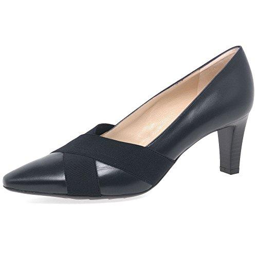 Mujer Kaiser Cuero Tacón de de Peter Navy Malana Cerrados Zapatos AP8xfR