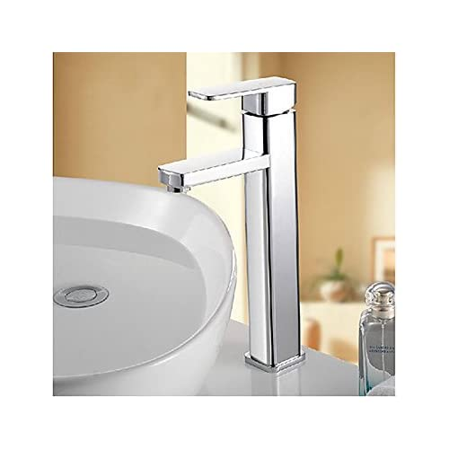 W&P Tall Bathroom Sink Vessel Faucet Chrome Lavatory Faucets , 48 x 8 cm chic