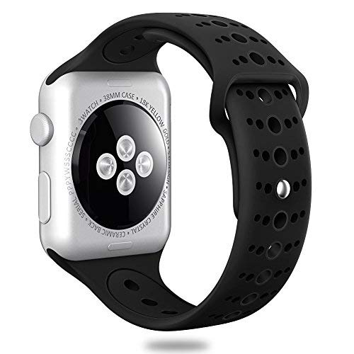 Valband Compatible with Apple Watch Band 38mm 40mm 42mm 44mm, Soft Silicone  Sport Band Strap Replacement iWatch Bands for Apple Watch Nike Series ...
