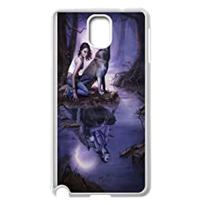 [QiongMai Phone Case] For Samsung Galaxy NOTE4 Case Cover -Wolf at Moon Night-IKAI0446727