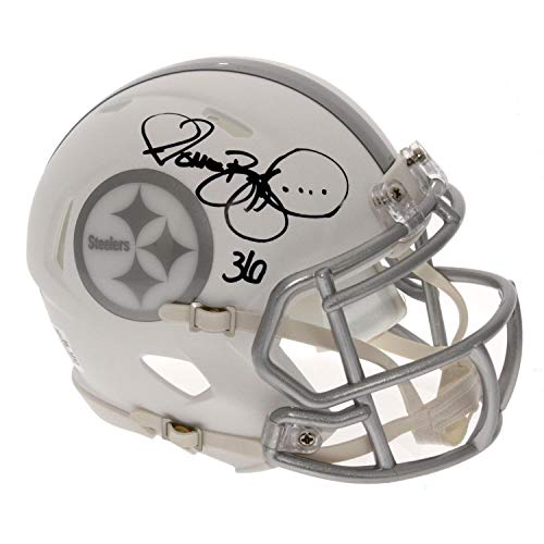 Autographed Authentic Helmet Pittsburgh Steelers - Jerome Bettis Autographed Signed Pittsburgh Steelers Alternate ICE Speed Mini Helmet - PSA/DNA Certified Authentic