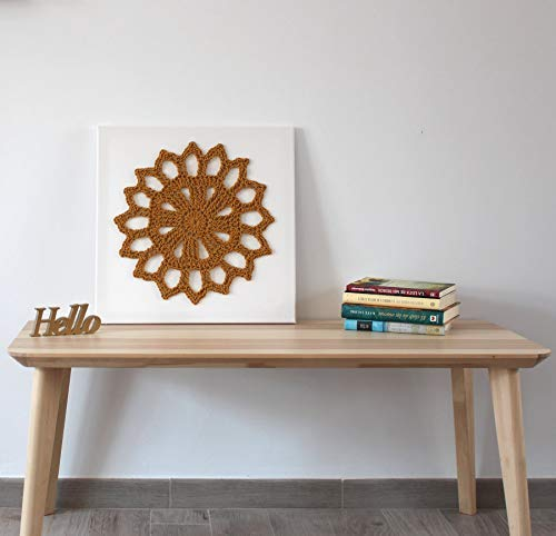 Cuadro Crochet Flor Amal Mostaza: Amazon.es: Handmade