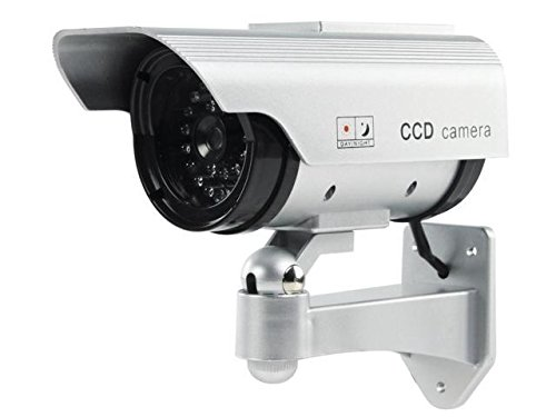Tekitダミーアウトドアソーラーセキュリティカメラ、ソーラーフェイク/ダミーカメラフェイク、ダミーセキュリティCCTVドームカメラ B07BRKFK6G