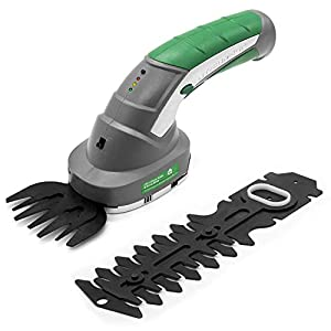 Gracious Gardens 2 IN 1 3.6V Cordless Electric Hedge Trimmer Built in Lithium Ion Battery, Topiary Shears, Hand Held…