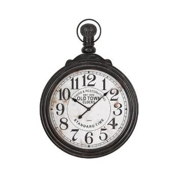 Amazoncom Aspire Home Accents Large Pocket Watch Style Wall Clock