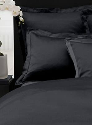 Amazoncom Donna Karan Modern Classics Bedding Black Ice Ribbed - Donna-karans-modern-classics-bedding-collection