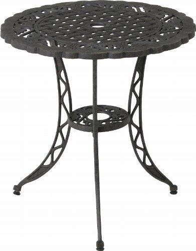 不二貿易 モールド ラウンドテーブル アルミ鋳物 ブラック 81053 B001T7D8QQ