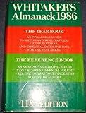 Whitaker's Almanack 1986, Joseph Whitaker, 0850211611