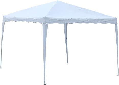 GOTOTOP Cenador plegable impermeable de 3 x 3 m, para exteriores, para patio, pabellón, carpa de campaña, color blanco