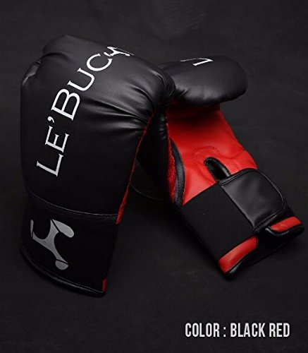 Le Buckle Training Boxing Gloves 12 Oz (Black And Red) Price & Reviews