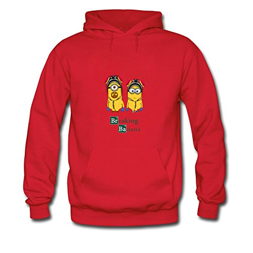 Men Breaking Banana Minion Robot Hoodies (Minion Mens Sweatshirt)