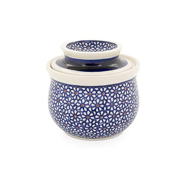 Bunzlauer Butter Dish with Water Cooling for 175 g, Height 10.7 cm, Diameter 11.0 cm, Capacity 0.2 Litres, Decor 120