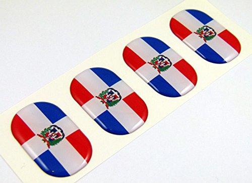 Dominican Republic midi domed decals flag 4 emblems 1.5
