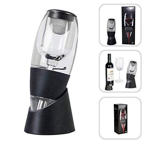 Denshine Wine Aerator, Wine Decanter Wine Aerator with Wine Filter Wine Aerator Decanter Wine Pourers - Black