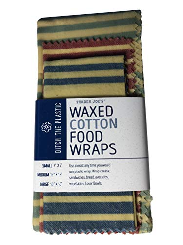 Trader Joes Waxed Cotton Food Wraps Reusable