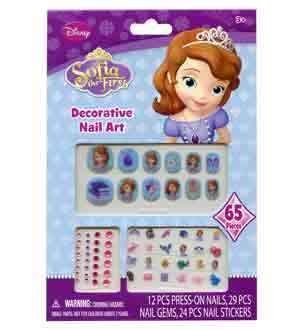 Sofia The 1st Nail-Stickers-Gems 12 Pcs [8 Retail Unit(s) Pack] - PS0116SA ()