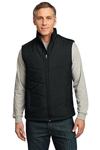 Port Authority Men's Puffy Vest L Black/Black