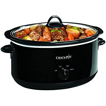 Crock-pot Oval Manual Slow Cooker, Black, 8 quart (SCV800-B)