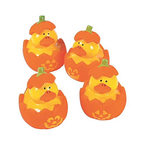Jack-O'-Lantern Rubber Duckies - 12 pc -