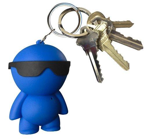iHip IP-LILDUDEBL Lil Dude Portable Mini Keychain Speaker (Blue)