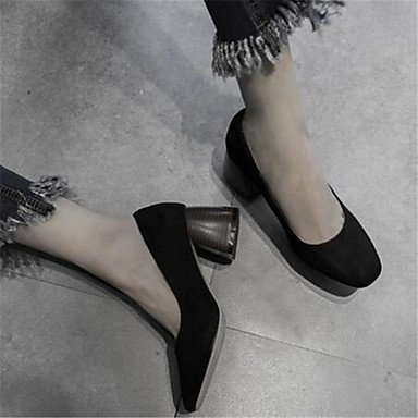 pwne Donna stivali inverno Mary Jane PU Casual Chunky Heel Black US7.5 / EU38 / UK5.5 / CN38
