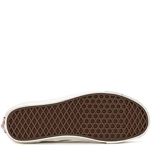 Vans OG Classic Slip-On LX Sneakers (US Mens 10.5, White/Red)