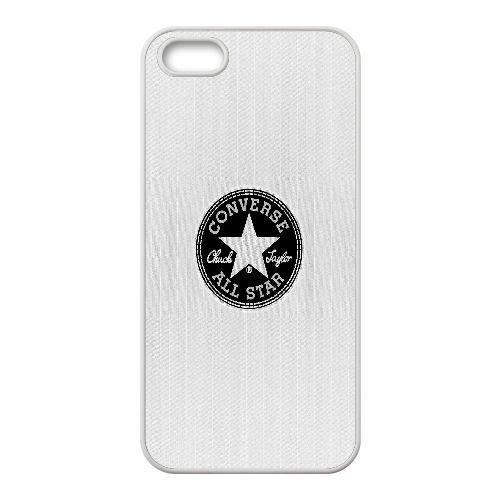 B9U37 annonce logo allstar Converse blanche X8L4IW coque iPhone 5 5s cellulaire cas de téléphone couvercle coque blanche WU2WLL6WA
