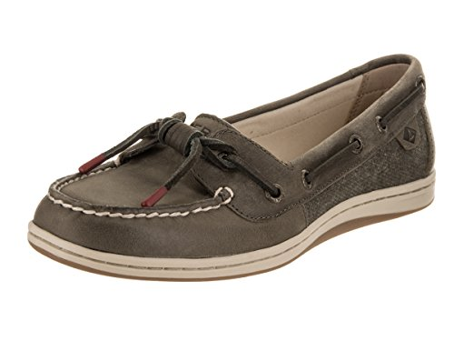 Sider Top Leather Tie Sperry (Sperry Top-Sider Women's Barrelfish Boat Shoe, Taupe - 6.5 B(M) US)