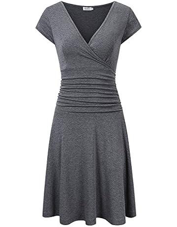 ffe031850 Clearlove Women V-Neck 3 4 Sleeve Tummy Control Slim Dress