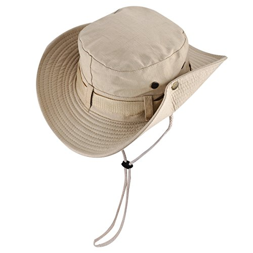 Wide brim boonie fishing hat portable quick drying sun for Wide brim fishing hat