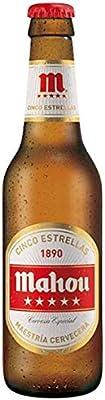 Mahou 5 Estrellas Cerveza Dorada Lager, 5.5% de Volumen de Alcohol - Pack de 24 x 25 cl: Amazon.es: Alimentación y bebidas