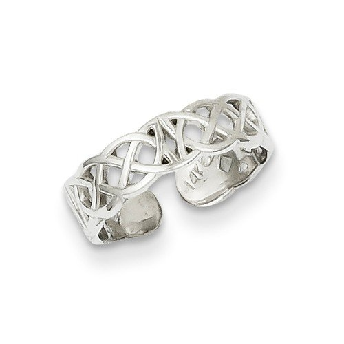 Solid 14k White Gold Polished