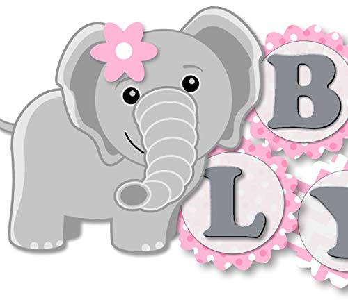 Elephant Baby Shower Banner Party Decoration Supplies for