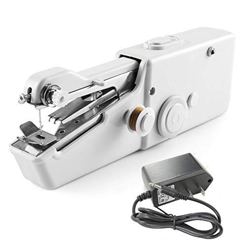 Homwel Handheld Sewing Machine,DIY Handicraft Shop,Portable Sewing Machine,Used for Fabrics, Clothing, Children's Clothing, Family Travel(Gift Power Cord)