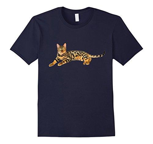 Mens Bengal Cat Shirt - Bengal Cat Body T-shirt Medium Navy