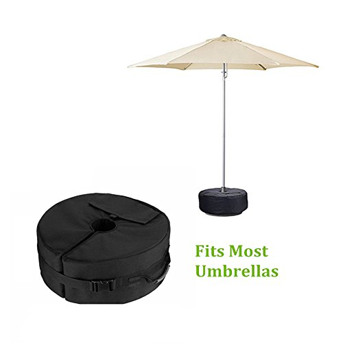 "18""Round Umbrella Base Weight Bag with Big Opening, VOLMON Detachable Umbrella Weights Sand Bags for Pole, Base for Patio Beach Offset Cantilever & Standard Outdoor Umbrellas, Easy to Fill and Install by VOLMON (Image #6)"