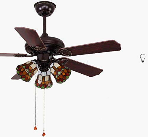 Amazon.com: GJX 42-inch Ceiling Fan Tiffany Style Stained ...