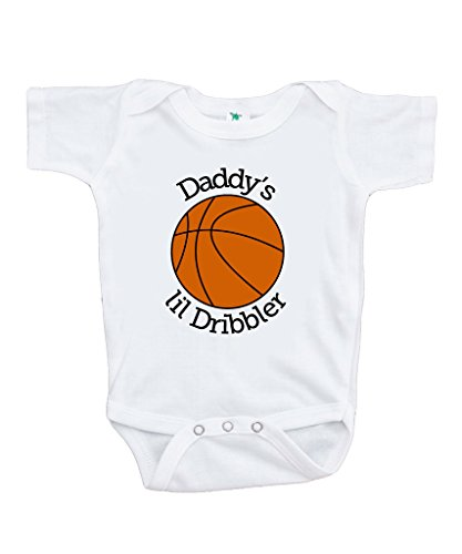 Custom Party Shop Baby Boy's Daddy's Lil Dribbler Basketball Onepiece 0-3 Months Orange and Black