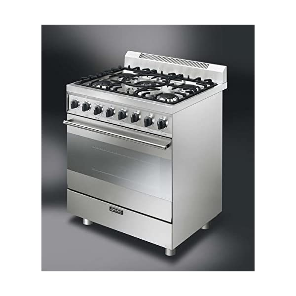"""Smeg C30GGXU1 30"""" Free Standing Gas Range with 5 Gas Burners and 3 Cooking Modes, Stainless Steel 2"""