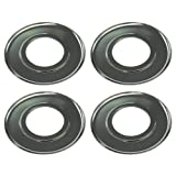 (4) Universal Gas Stove Range Cooktop 7.5'' Round Drip Pan Chrome FOR Kenmore KitchenAid Whirlpool Maytag